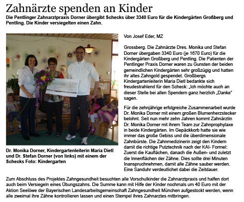 Spende für Kindergärten